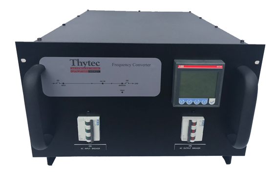 Our Rack mounted Frequency Converter available in sizes up to 5kVA