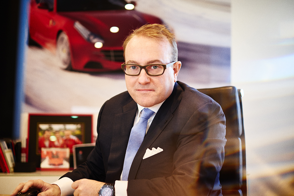 CEO of Ferrari Australia, Herbert Appleroth for D'Marge