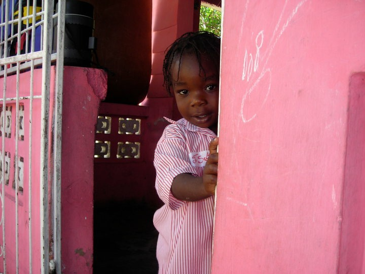 Meet Johnsley,  one of Mary Lou's little friends she made during her travels to Haiti.