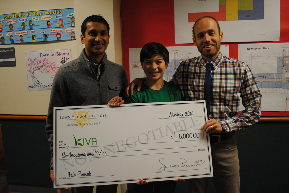 Premal Shah visits Town School for his JUMBO check!