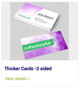 Business Cards - Thicker Cards -2 sided