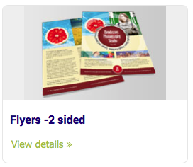 Flyers - Flyers -2 sided