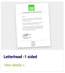 Letterhead - Letterhead -1 sided