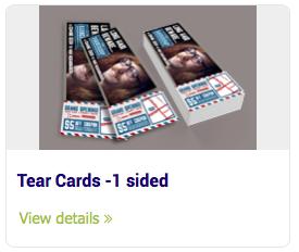 Tear Cards - Tear Cards -1 sided