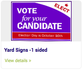 Large Format Signs - Yard Signs -1 sided