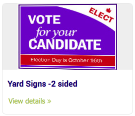 Large Format Signs - Yard Signs -2 sided