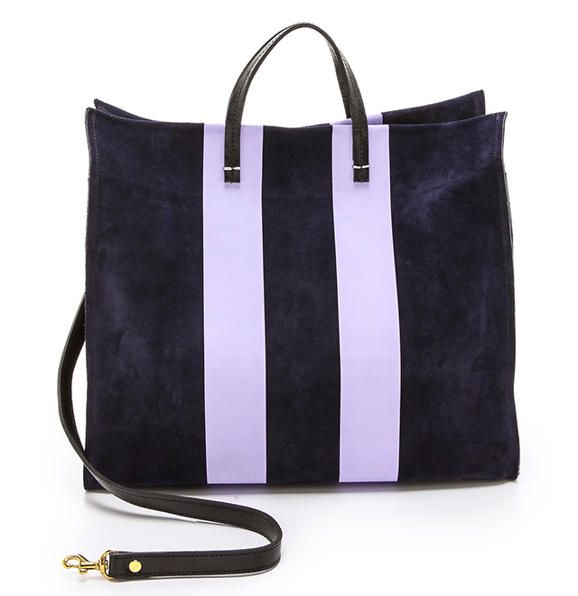 Claire V Simple Tote  ($485). This bag comes in a number of different color combinations to suite your needs.