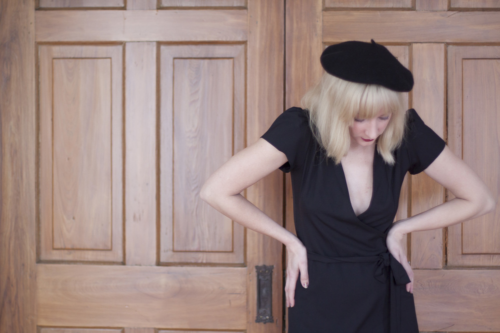 parisian-sexy-beret-wrap-dress