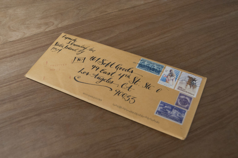 Amazing hand-written envelope! Just the envelope alone is worth keeping.