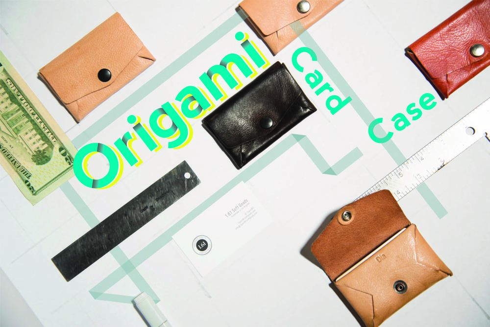 How we use our Origami Card Case