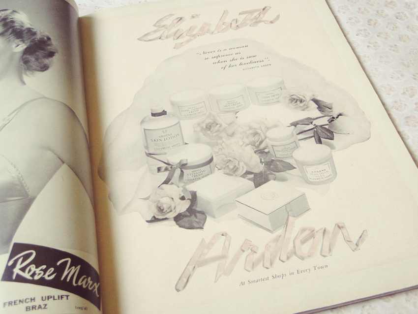 My favourite page of the magazine. I am in love with the ribbon lettering and just adore the colour combination of black, white and dusty pinks.