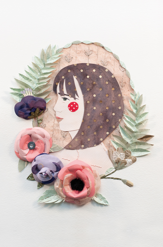 Ta-Da! My self portrait. Kinda looks like me right? Totally captured the flowers I have attached to me at all times. To see the portrait I did of artist Katie Glover check out the zine!