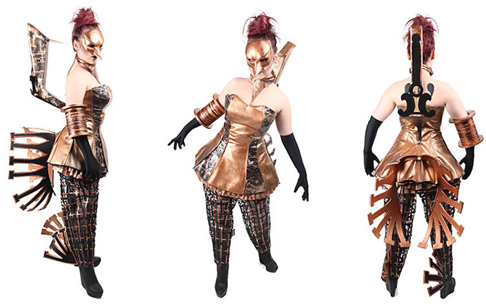 Costume for Mayhem 2012 inspired by Frankenstein, Steam Punk and sewing machines.  (Costume modelled by Julia Gorman Photo by Scott Dawson)