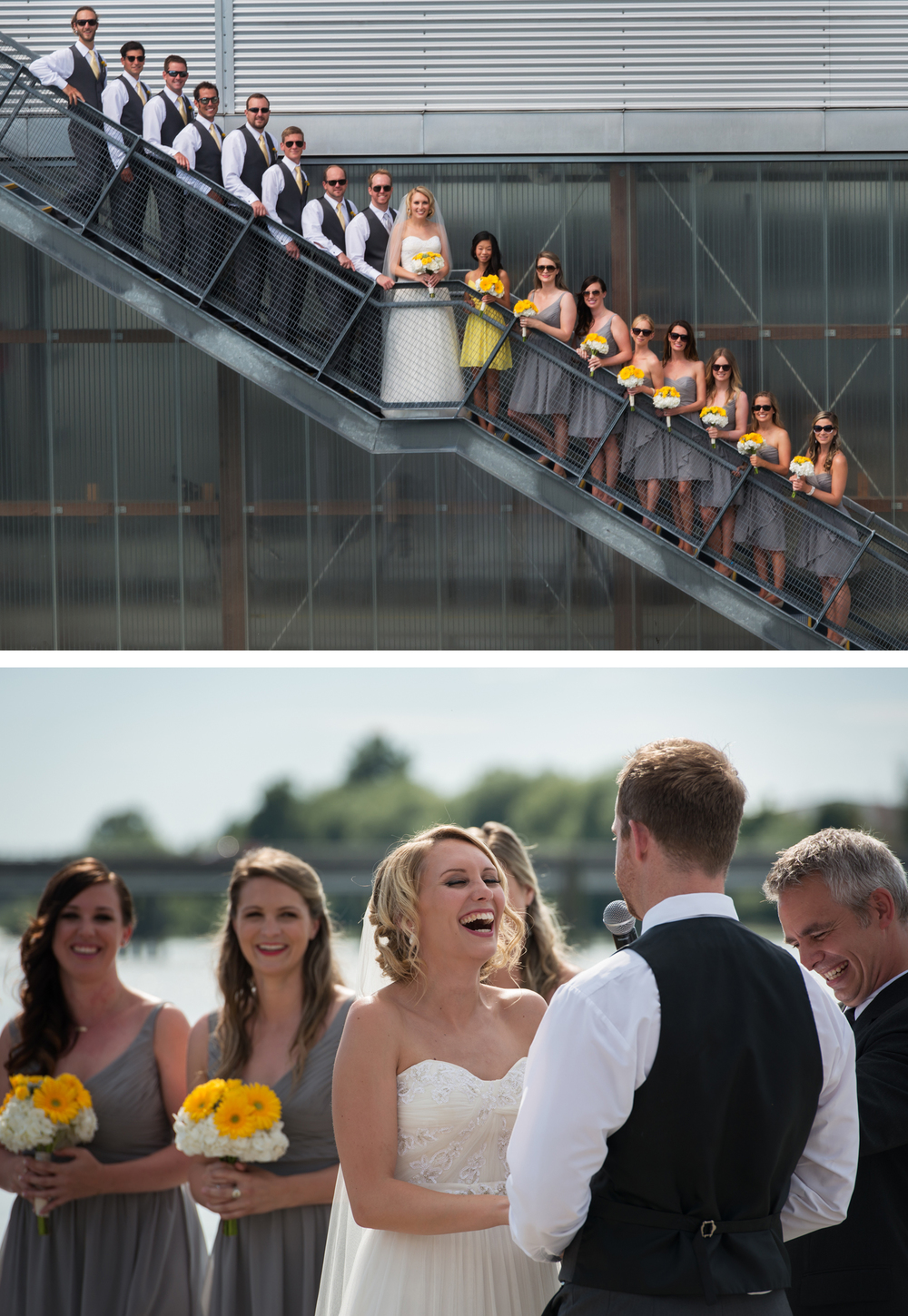 Shots from the first wedding I photographed this past summer. I lucked out – every single person in the wedding party was model-beautiful, easy going and a lot of fun to work with.