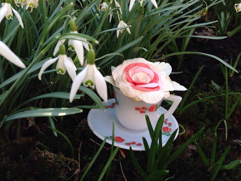 Pink Paper Flower in Tea Cup Tara Galuska.jpg
