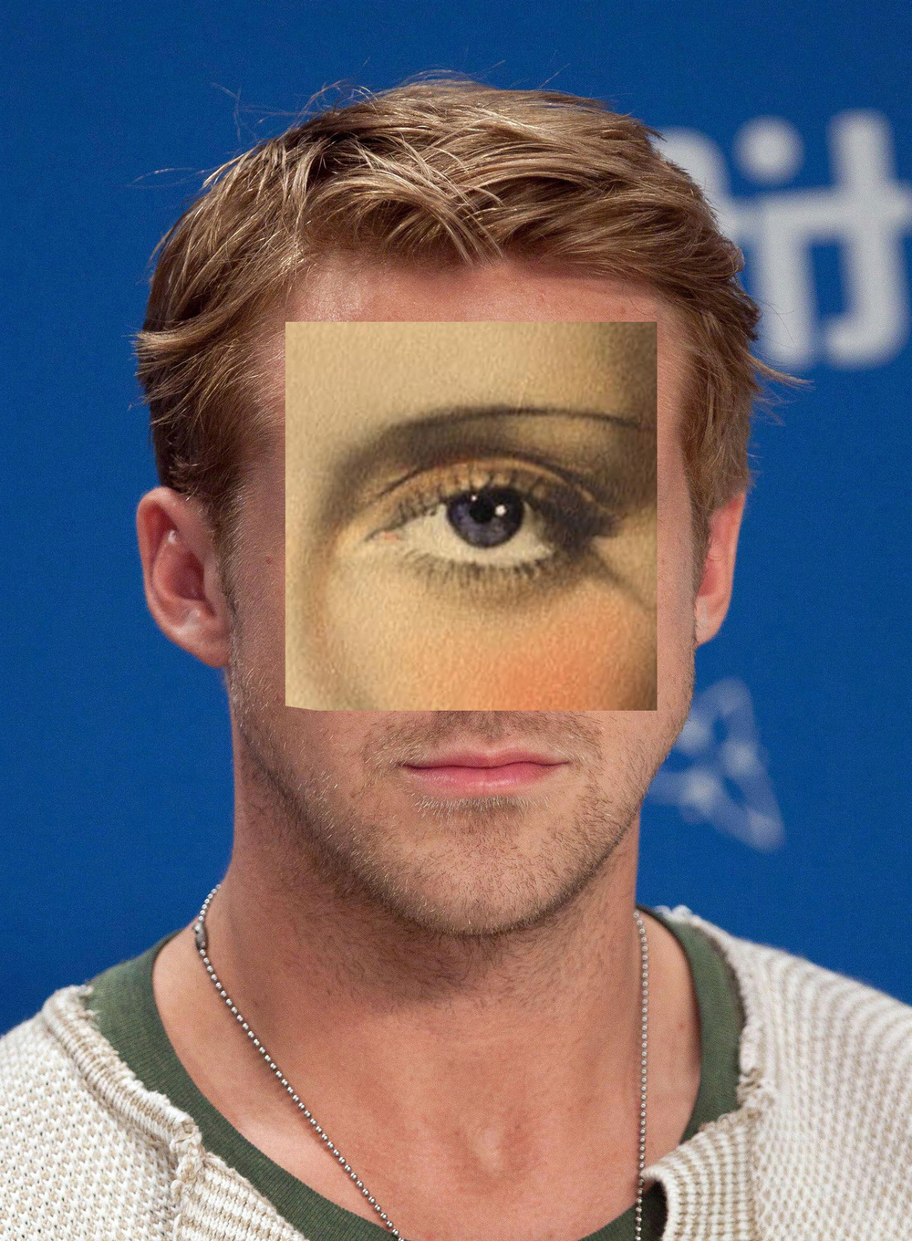 Gosling Eyes , the feature image representing   Hyperreality   series