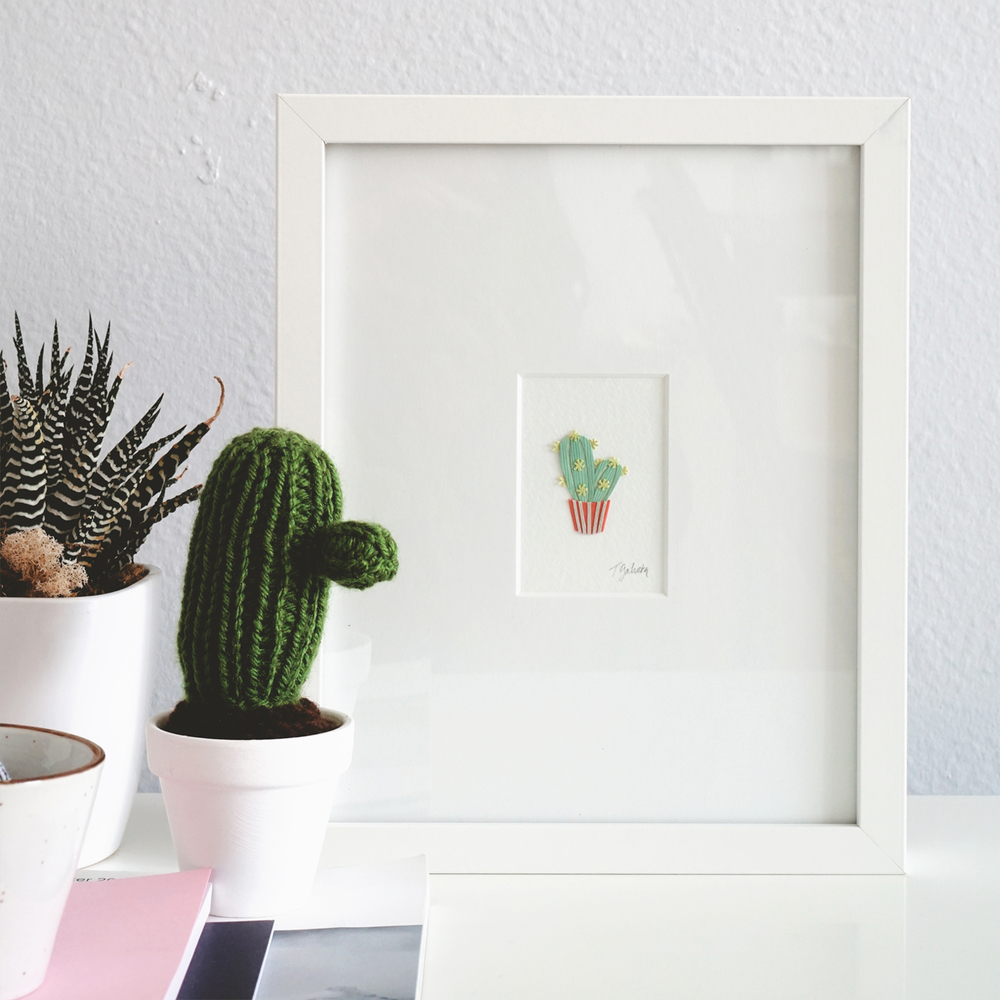 Tiny Plant Cactus Artwork