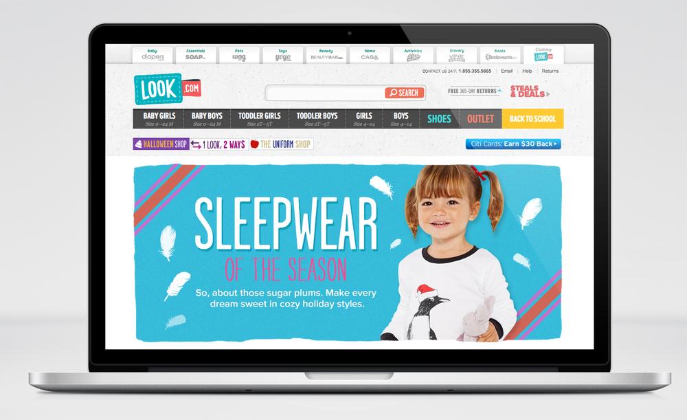 Look.com | Sleepwear Landing Page