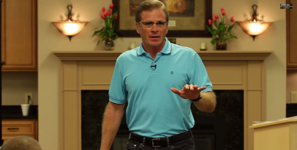 BEFORE: Frank Turek on an episode of his show.