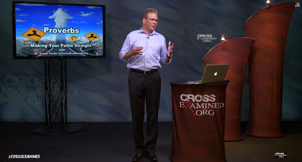 AFTER: Frank Turek on the set of Cross Examined.