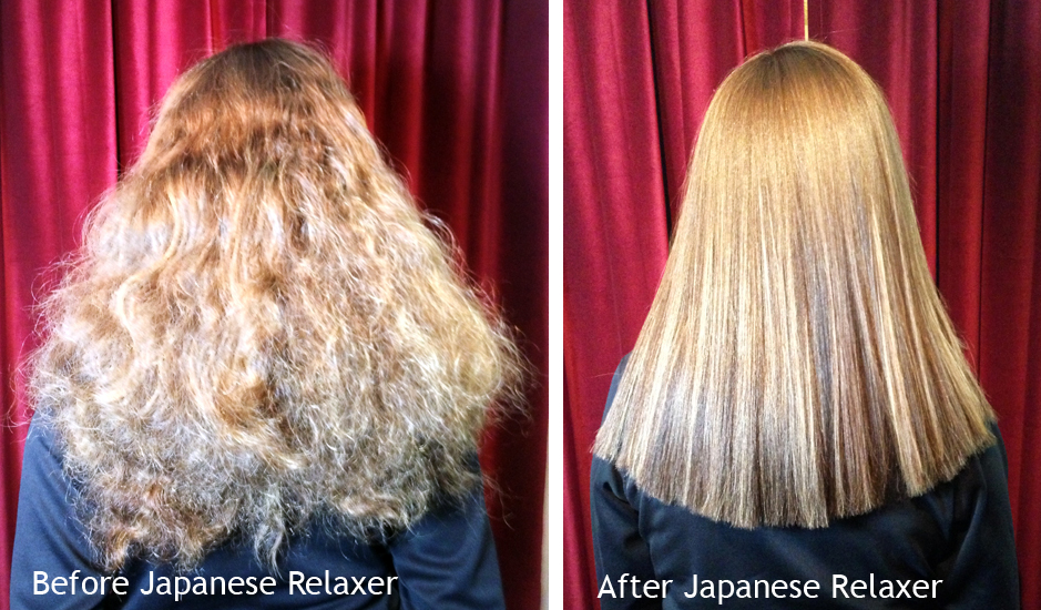 Before/After Japanese Relaxer by Madelyn & Cam