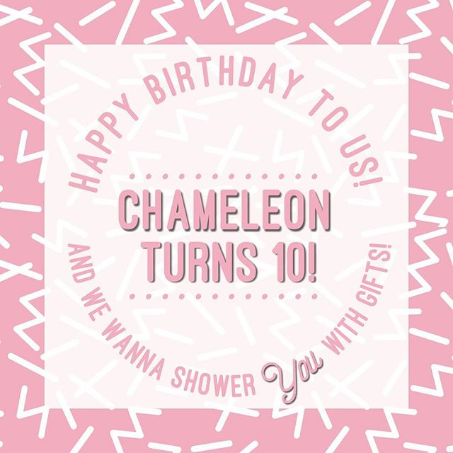 🎉🎉🎉We turn 10 today and we're so excited that we're going to shower someone, maybe you, with gifts! We're so grateful for all of the beautiful souls we've had the opportunity to connect with because of the salon... there wouldn't be a Chameleon without our amazing clients who have been so supportive over the years! Today not only marks our 10 years in business but the beginning of Chameleon's Selfie Game! Did you get your hair, brows, nails or lashes done at Chameleon? Feelin' fly? Cool, this game is for YOU! Tag us in a selfie and you will be entered to win our Chameleon's Faves gift basket full of our favorite products along with tips and tricks! We'll be releasing sneak peaks for the gift basket over the next few weeks so stay tuned! . Use #ChameleonSalonPDX + Tag us on Instagram and get 3 entries. + Tag us on Facebook and get 2 entries.  We will draw and announce the winner on June 15th- get to tagging, my pretties!