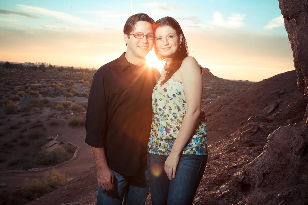 Arizona Couple at Sunset