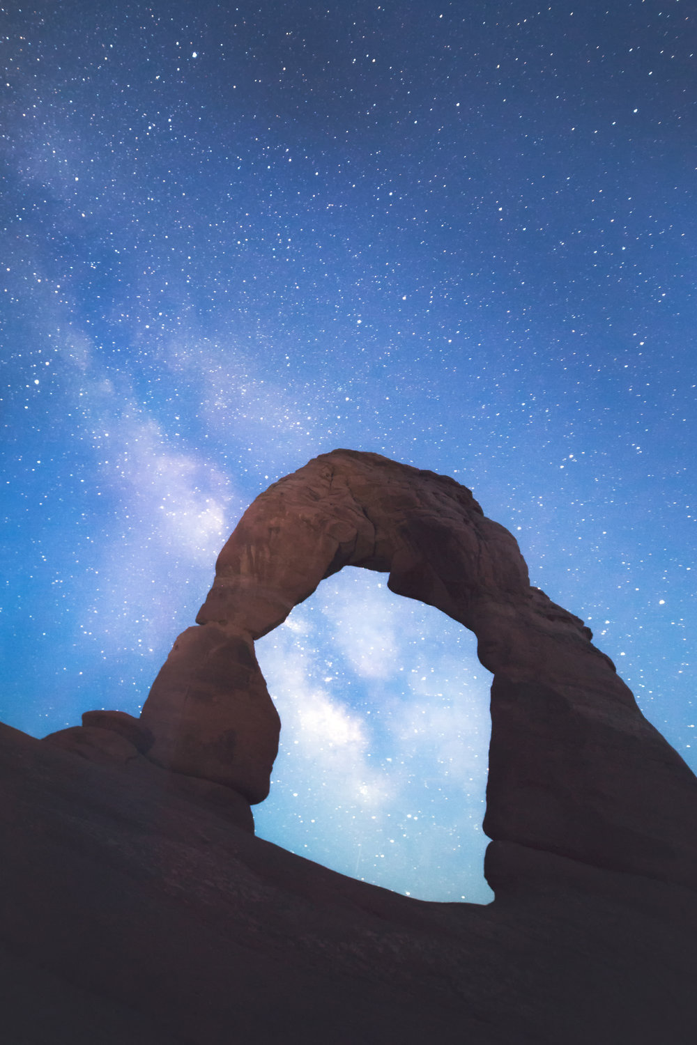 Milky Way rising behind Delicate Arch