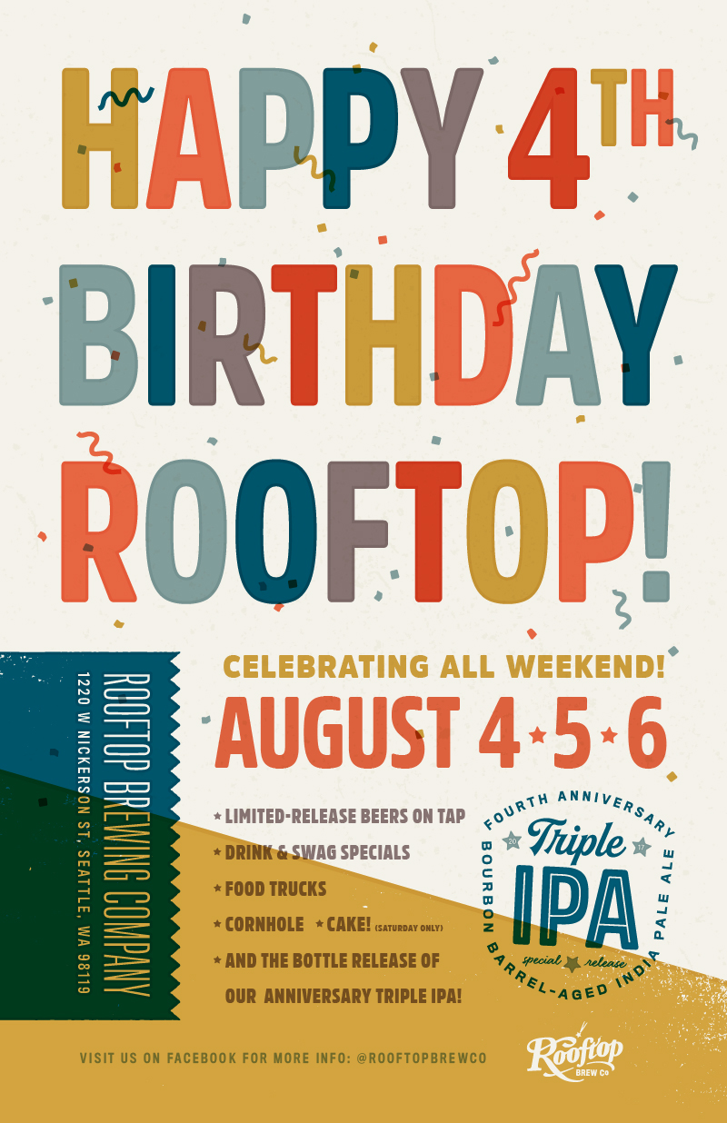 Rooftop Brew Co 4th Anniversary