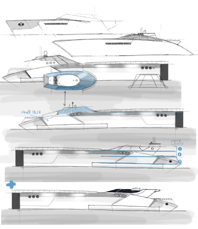 Explorations of the super yacht.