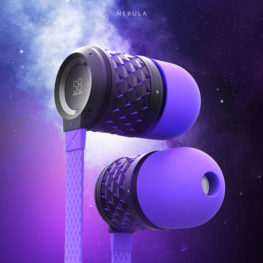 S8 Stellar Earbuds Concept. Nebula Edition.