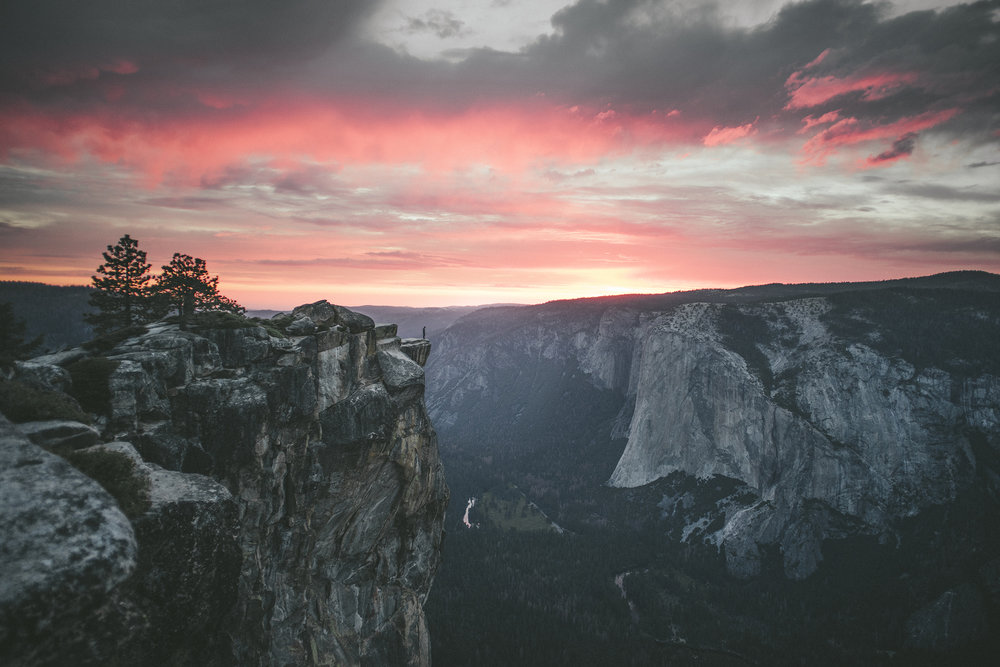 06.11.2016 // caught an explosive sunset at taft point in yosemite national park.