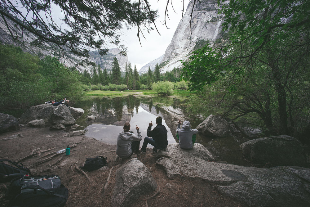 06.12.2016 // soaking in and reflecting on life with good company at mirror lake, yosemite national park.