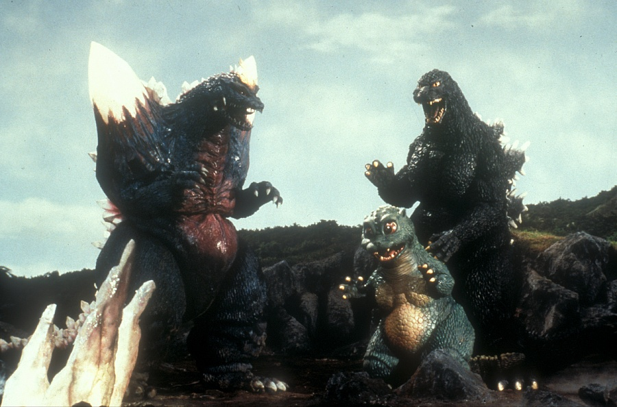 Space Godzilla does not make a good babysitter.