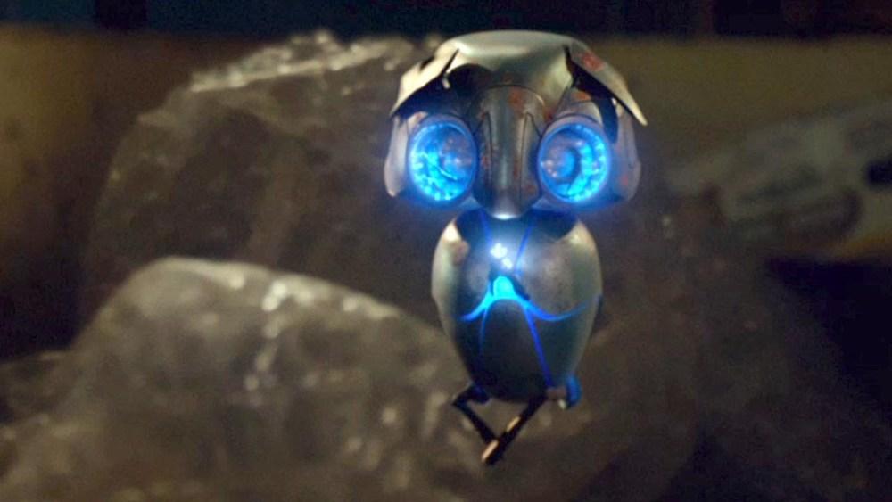 He's kind of like a cute little robo-owl, isn't he?