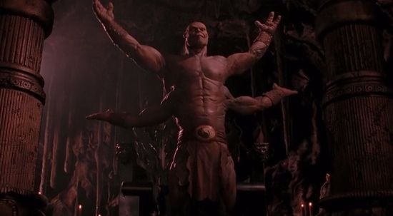 Goro! Goro! Practical effects-work holds up far better than the CG.
