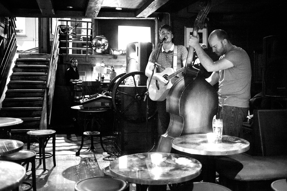 The band  Thrill Collins  playing at Underwater Pub in Oslo.