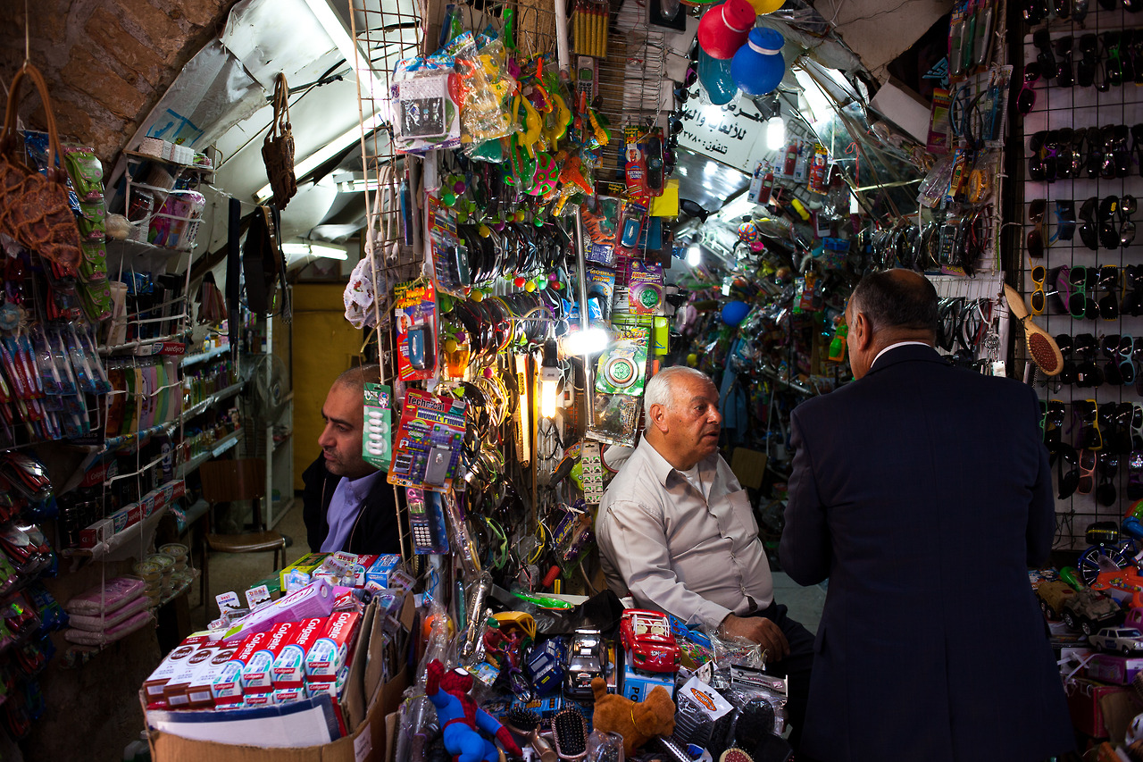 Sellers in the Old City in Jerusalem.