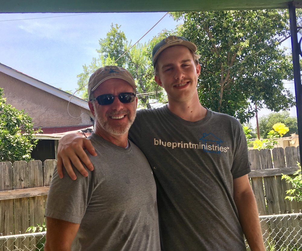 Joe has worked at Blueprint Ministries the last four summers.  I love spending time working with him!  Really proud of him and inspired by the work Blueprint does to serve San Antonio.