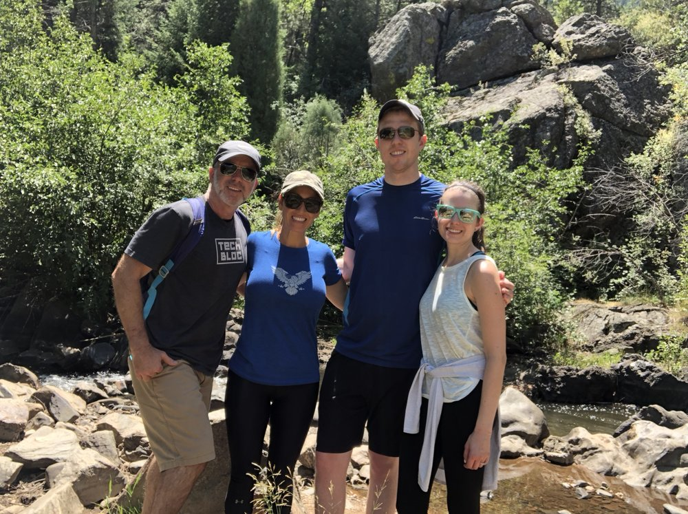 Matt and Hannah took us hiking in the Colorado Rockies