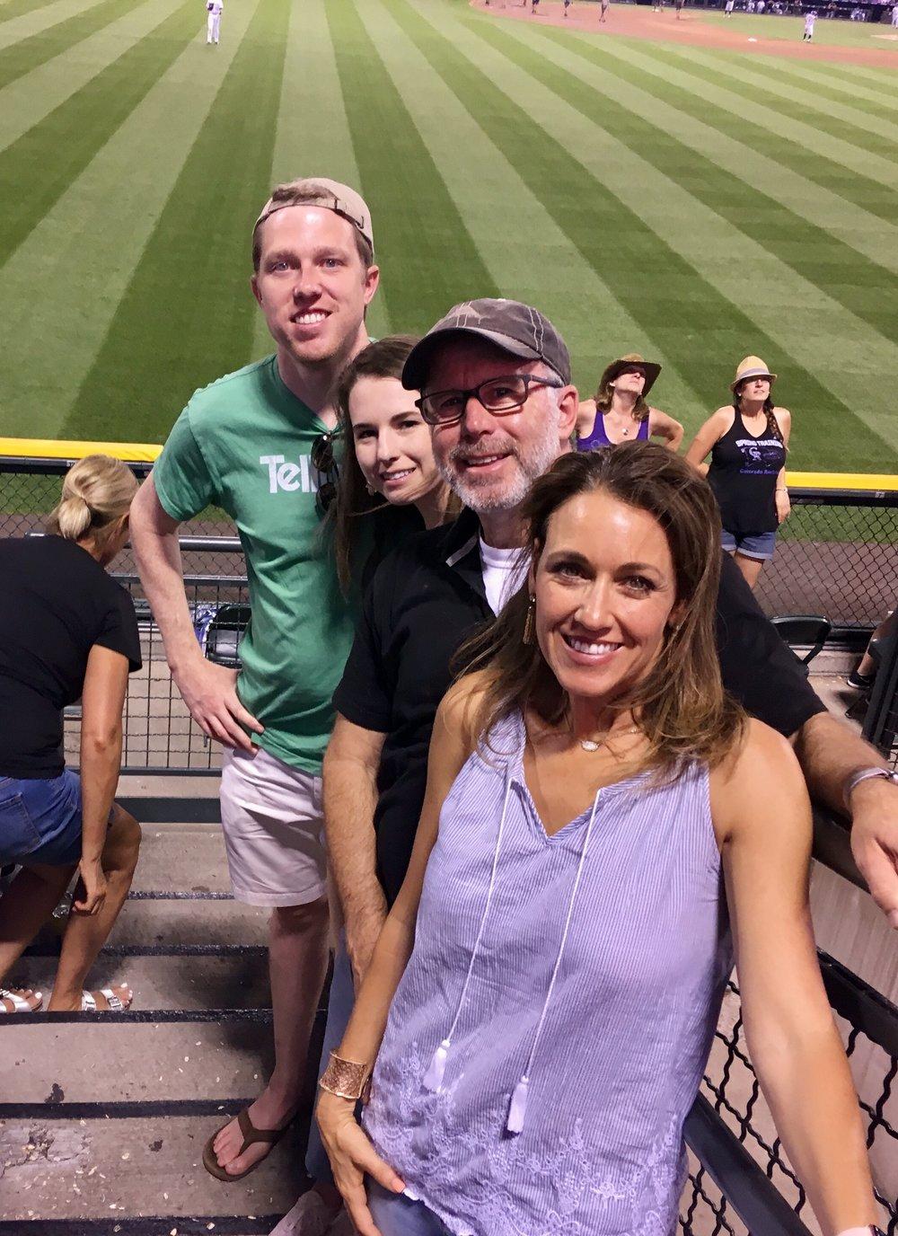Took Hannah and Matt to the Colorado Rockies game for Matt's birthday!