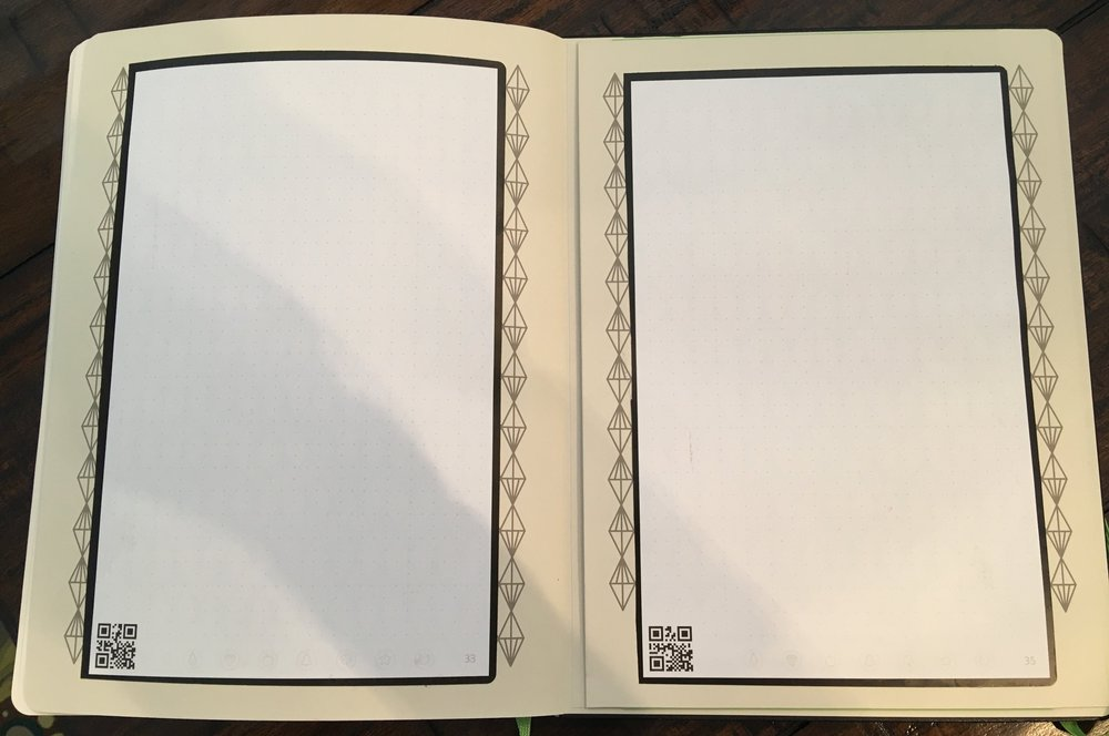 I added pages from a Rocketbook this year.  It is erasable and easily scans into Evernote or Google Drive.