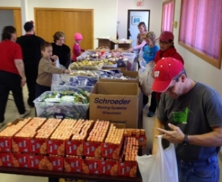 Filling over 2,000 bags . . . thank you volunteers!