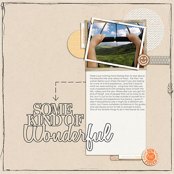 Layout using products from One Little Bird and Kate Winiecki.