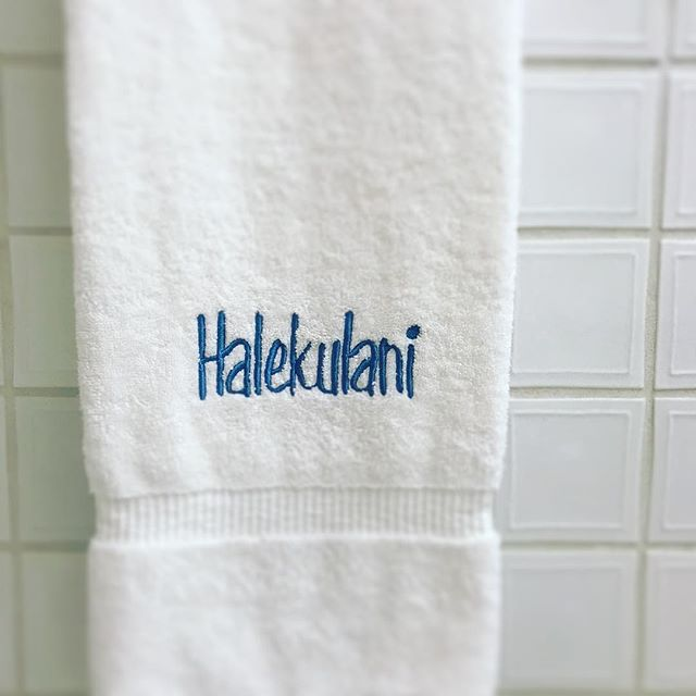 When you photograph your hotel's towel simply because of the font choice. #youknowyouareanerdwhen #2017potd