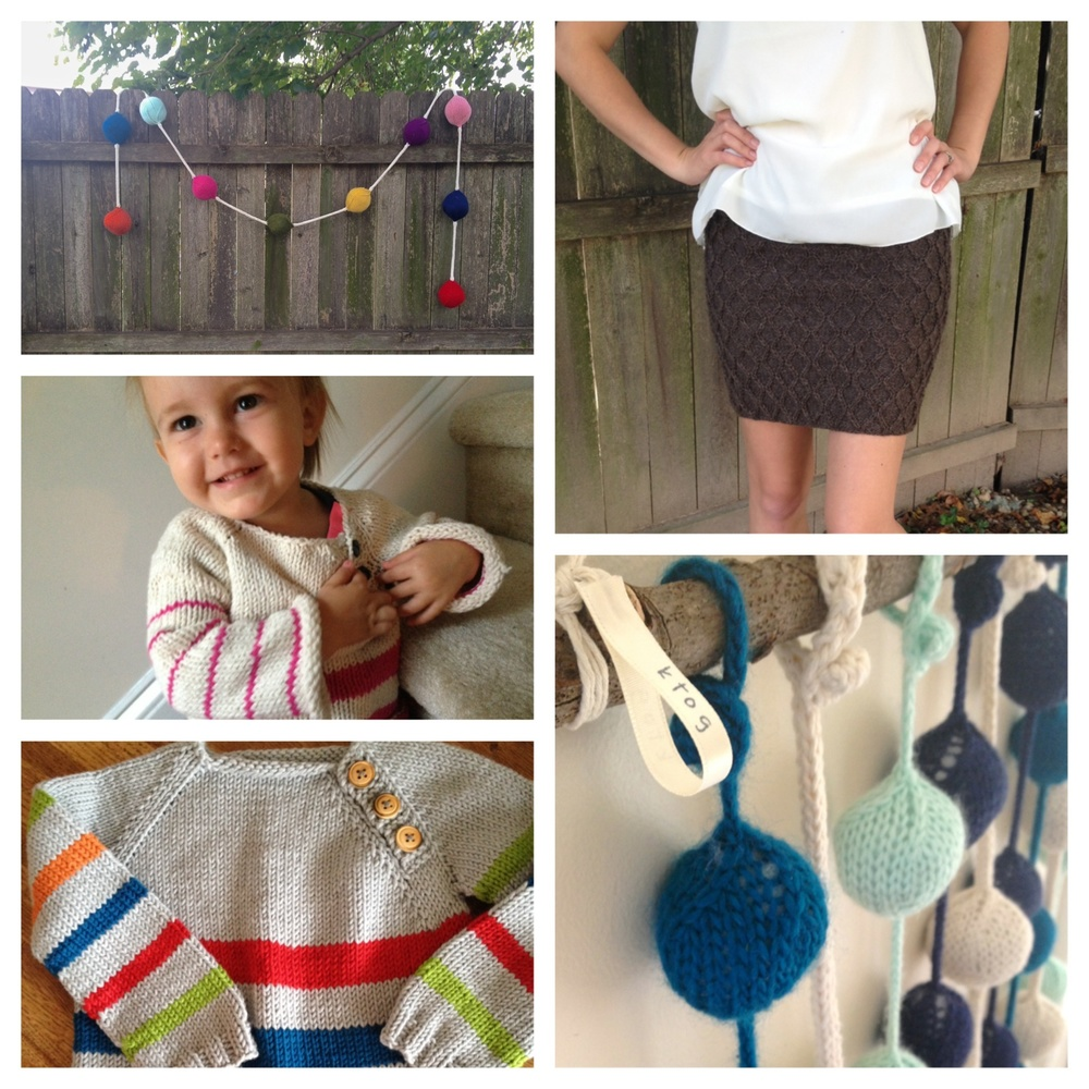 Party Strand bobble garland, Sassy Secretary skirt, Bobble wall hanging, striped sweater (3T), striped sweater for Aline