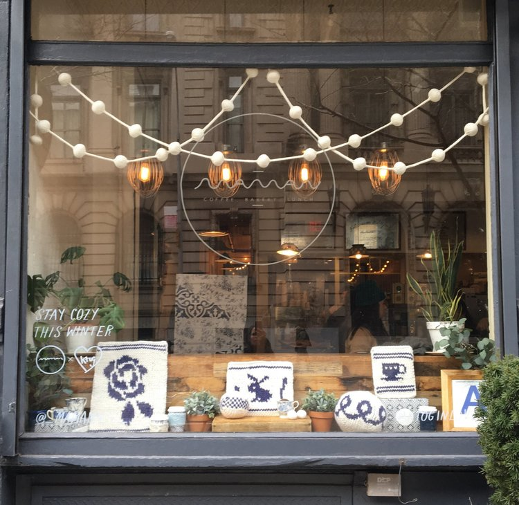 The Soho display incorporated our trademark cream bobble garlands, and some fun smaller items that we think captures the essence of everything Maman.