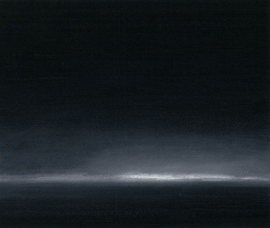 RS-032, Night Lights, North Dakota, Oil on Paper, 6.5 x 7.75.jpg