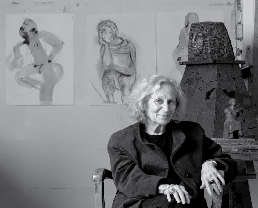 Eva Stubbs in her studio, 2010, photograph by Andrew Sikorsky