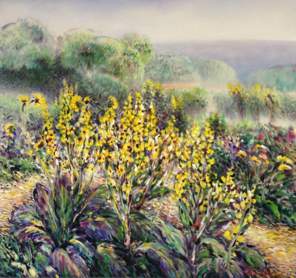 """Aliana Au, Nature's Garden, Acrylic on Canvas, 48"""" x 51"""""""